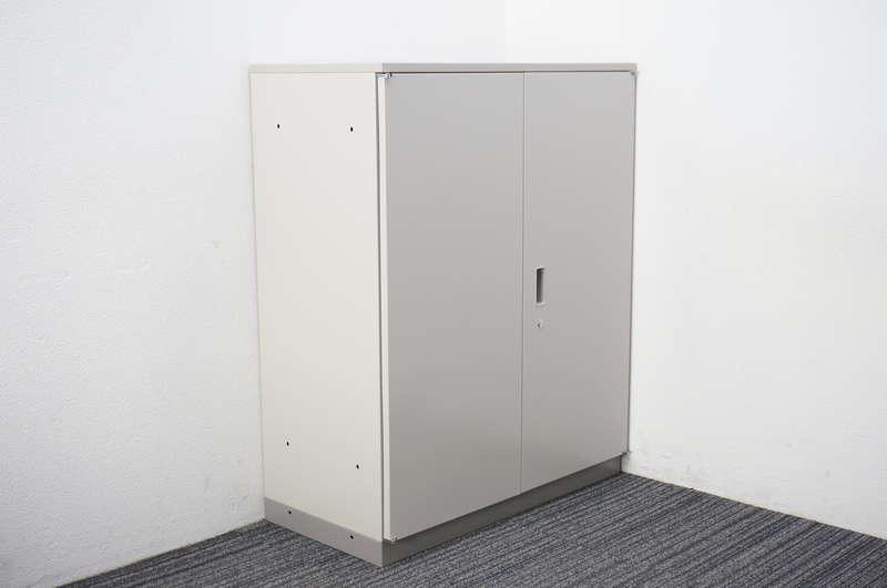 【B級 未使用品】 イトーキ シンライン 両開き書庫 天板付 H1120 WE色