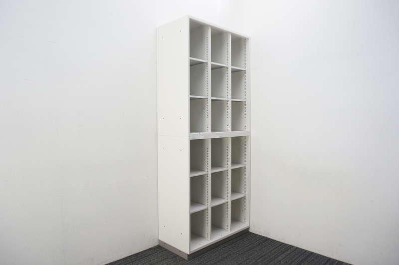 【B級 未使用品】 イトーキ シンライン 3列オープン棚型2段書庫 H2140 W9色/WE色用ベース