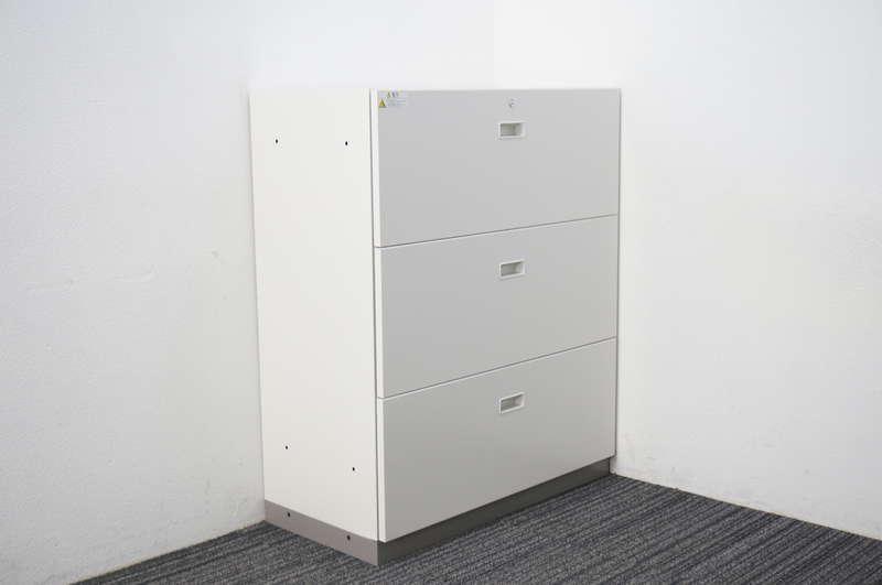 【B級 未使用品】 イトーキ シンライン 3段ラテラル書庫 H1100 W9色/WE色用ベース