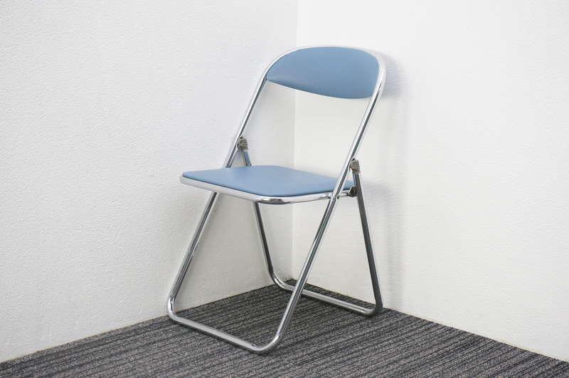 コクヨ 折りたたみ椅子 ミディアムブルー