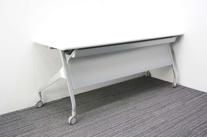 コクヨ エピファイ フラップテーブル 1860 幕板付 H720 ホワイト