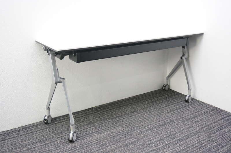 オカムラ インターアクトNT フラップテーブル 1545 幕板なし H720 ホワイト
