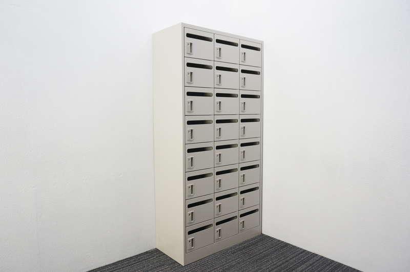 オカムラ メールボックス 24口タイプ W900 D400 H1790