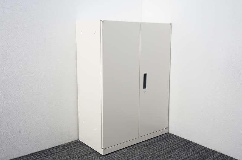 オカムラ ヴィラージュ 両開き書庫 W800 D400 H1100 ホワイト