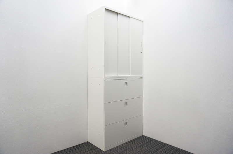 オカムラ レクトライン 3段ラテラル+3枚引戸書庫 H2150 ZA75色