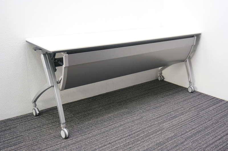 プラス Luarco(ルアルコ) フラップテーブル 1860 幕板付 ホワイト