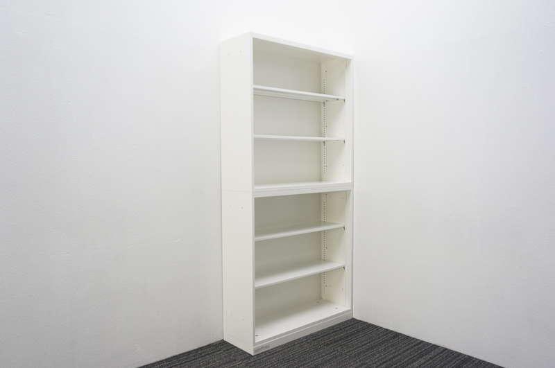 オカムラ レクトライン オープン2段書庫 W900 D300 H1850 ZA75色