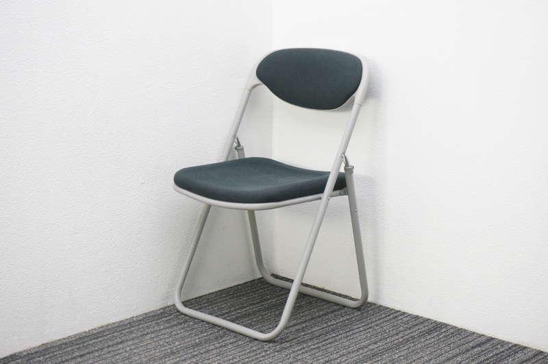 プラス 折りたたみ椅子 布 ブラック