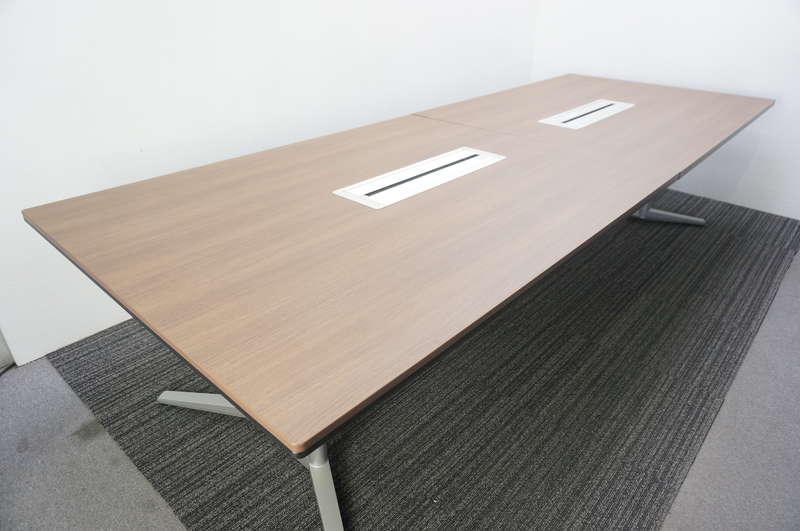 オカムラ ラティオ2 ミーティングテーブル 3212 ネオウッドダーク