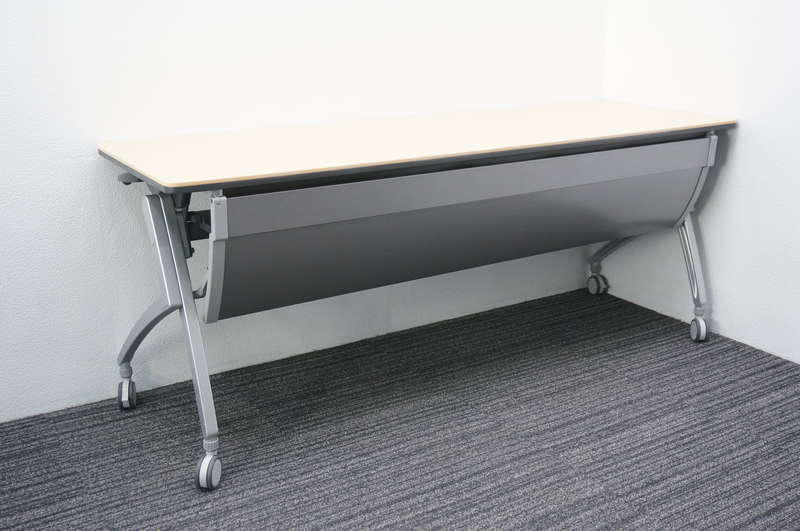 プラス Luarco(ルアルコ) フラップテーブル 1860 幕板付 ホワイトメープル