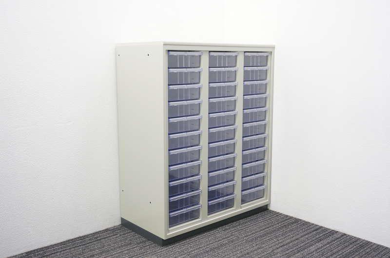 プラス LINX LX-5 書類整理庫 3列11段 深型 A4 天板付 H1120 エルグレー