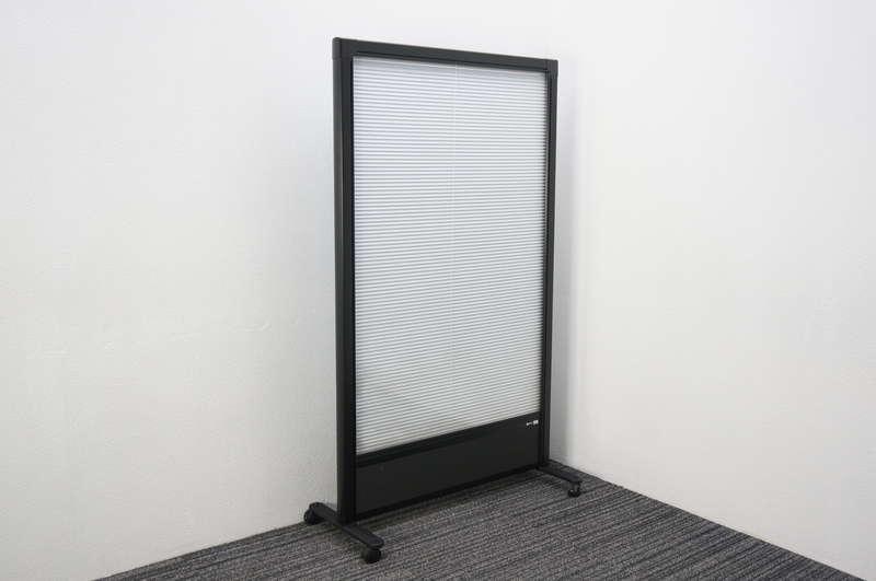 ニチベイ マイシーン2 ブラインド内蔵パーティション キャスター付 W900 D400 H1550 (2)