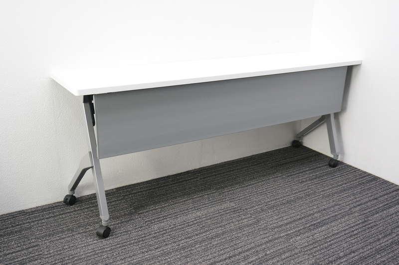 オカムラ フラプター フラップテーブル 1845 幕板付 H720 ホワイト