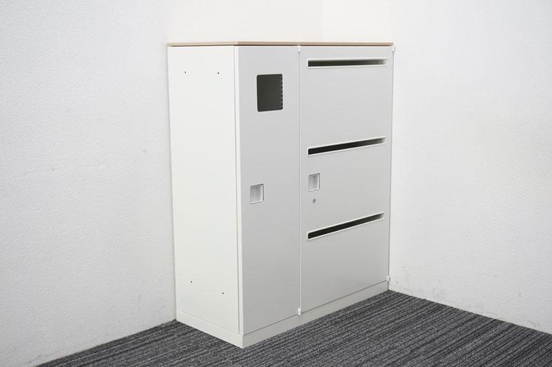 オカムラ レクトライン リサイクルトラッシュユニット 天板付 W900 D400 H1115 ZA75色