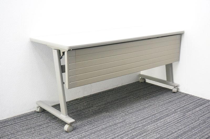 オカムラ Nタイプ フラップテーブル 1560 幕板付