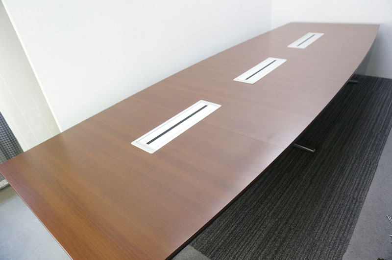 オカムラ ラティオ2 ミーティングテーブル 4014 ネオウッドダーク