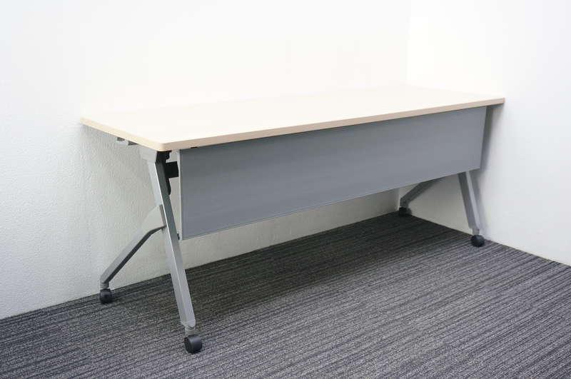 オカムラ フラプター フラップテーブル 1860 幕板付 H720 ネオウッドミディアム