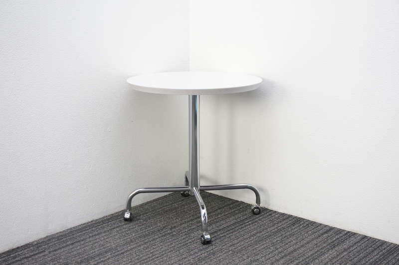 イトーキ べジーナ ソファ用テーブル(丸テーブル) キャスター脚 Φ600 H650 ホワイト