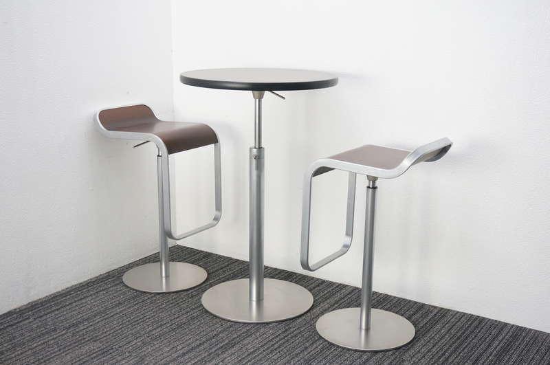 ラパルマ Brioテーブル + レムスツール×2脚セット (2)