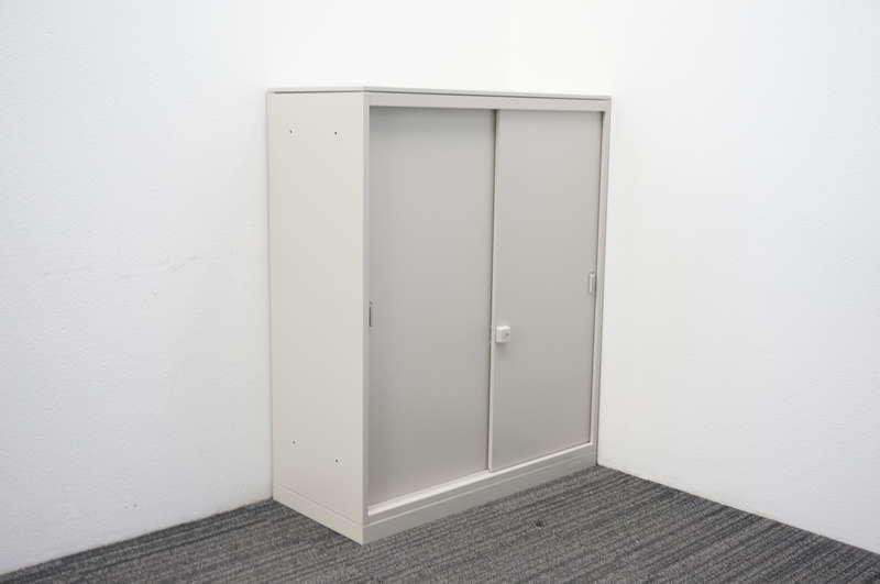 オカムラ レクトライン 2枚引戸書庫 天板付 W900 D400 H1115 Z13色