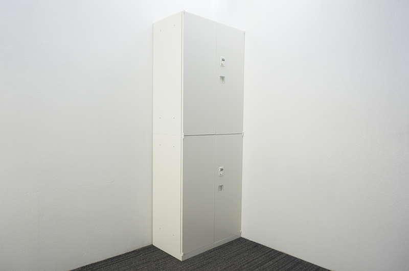 オカムラ レクトライン ダイヤル式両開き2段書庫 W800 D450 H2150 ZA75色