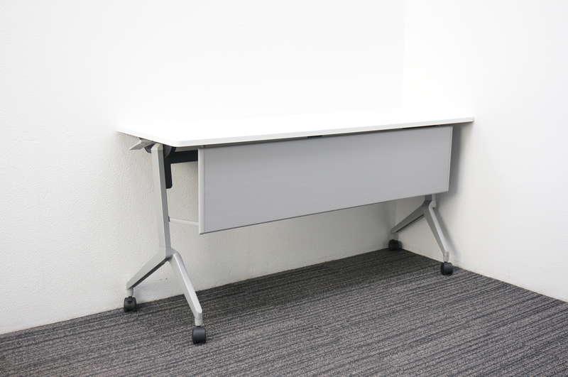 コクヨ リーフライン フラップテーブル 1545 幕板付 網棚なし ホワイト H720