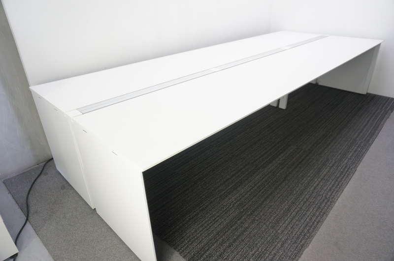 コクヨ ワークヴィスタ フリーアドレスデスク 3614 天板W1800+W1800 ホワイト
