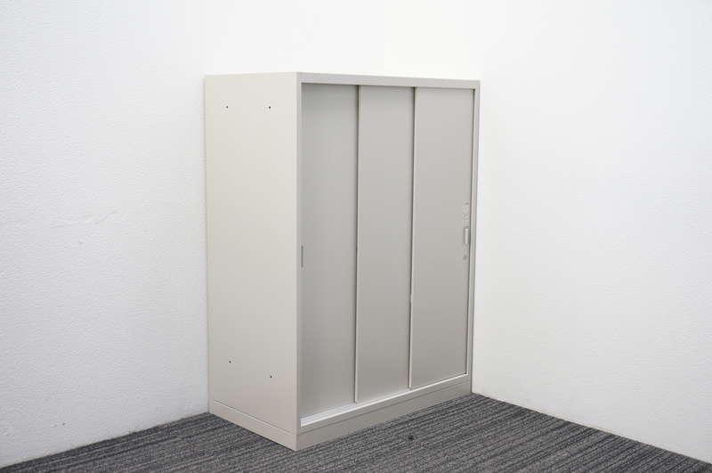 オカムラ レクトライン 3枚引き戸書庫 W800 D450 H1100 Z13色