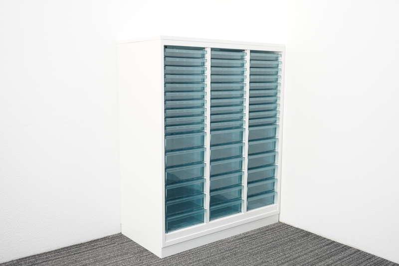 コクヨ エディア 書類整理庫 3列16段 コンビタイプ 天板付 H1130 ホワイト