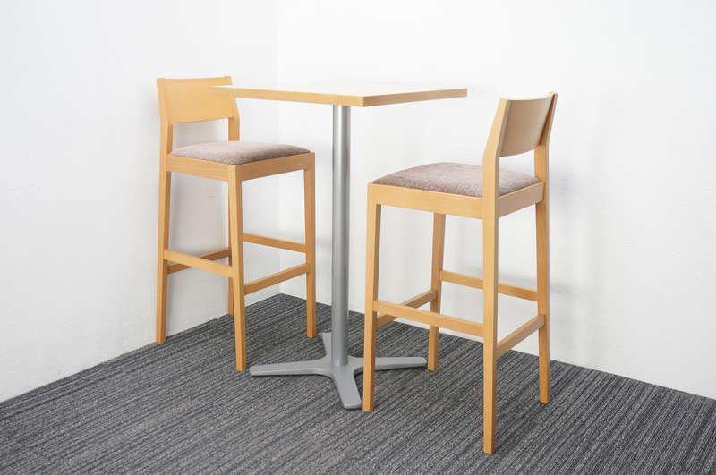 相合家具 ハイテーブル+ハイチェア×2脚セット