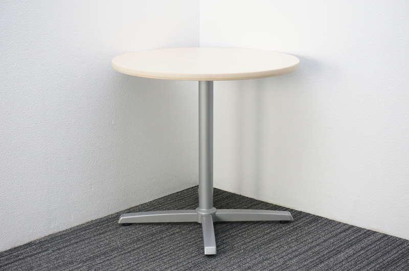オカムラ 8177 丸テーブル Φ750 H700 ライトプレーン