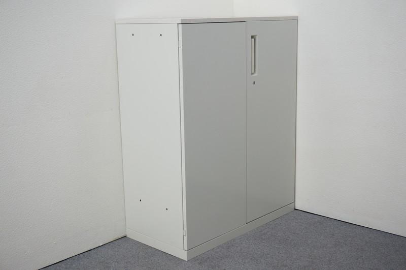 プラス レガーティオ 両開き書庫 天板付(ホワイト) H1120