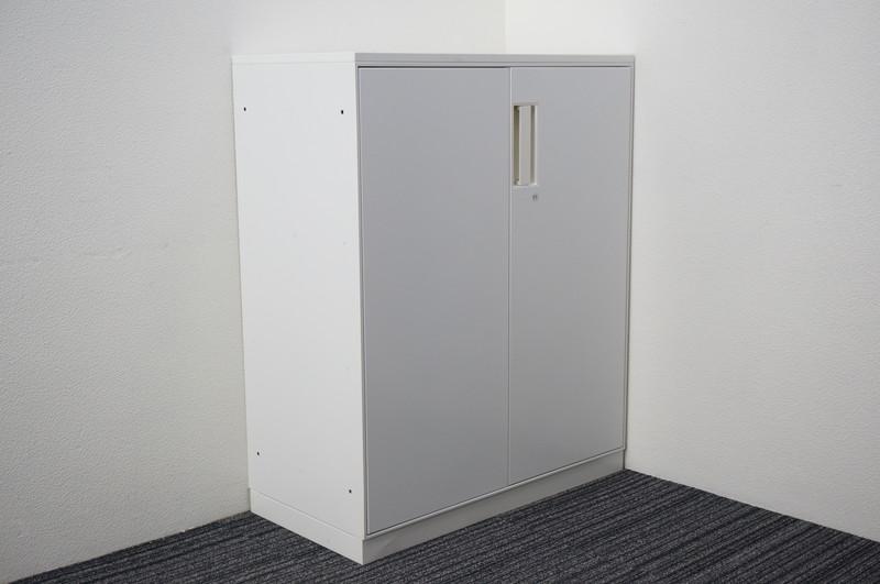 コクヨ UFX 両開き書庫 天板付 ホワイト H1100