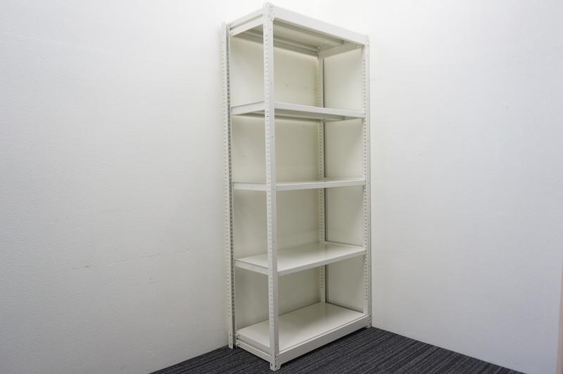 オカムラ 中量棚 天地5段 ホワイト W940 D450 H2100 200kg【店頭販売のみ】