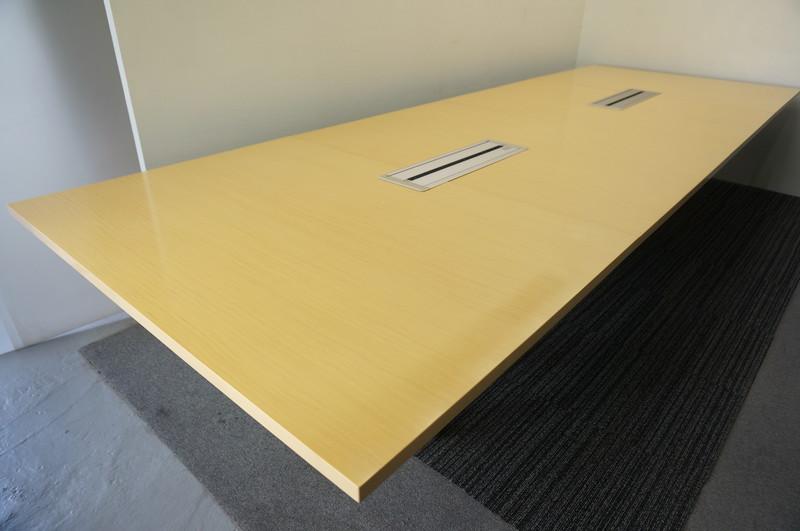 オカムラ 4L75 ミーティングテーブル 4014 ナチュラル (1)