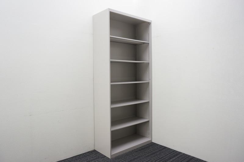 【B級 未使用品】 イトーキ シンライン オープン書庫 W900 D400 H2076 WE色 ベース無し
