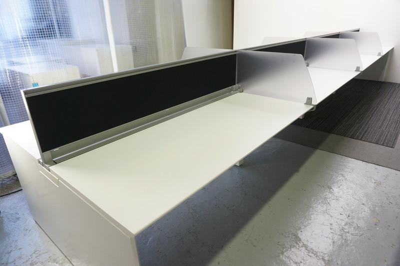 オカムラ プロユニット フリーウェイ フリーアドレス 6414 W1600天板×8枚 8席分 ホワイト H720