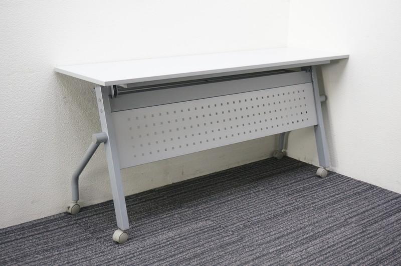 【自社便対応のみ】イノウエ フラップテーブル 1545 幕板付 ホワイト