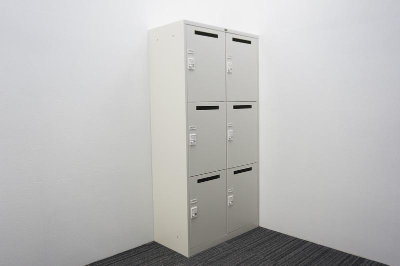 ウチダ ダイヤル式6人用パーソナルロッカー W900 D450 H1800 ホワイト