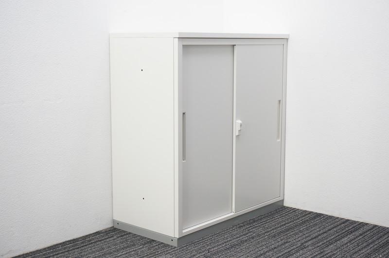 イナバ 2枚引戸書庫 天板付 H990 ホワイト