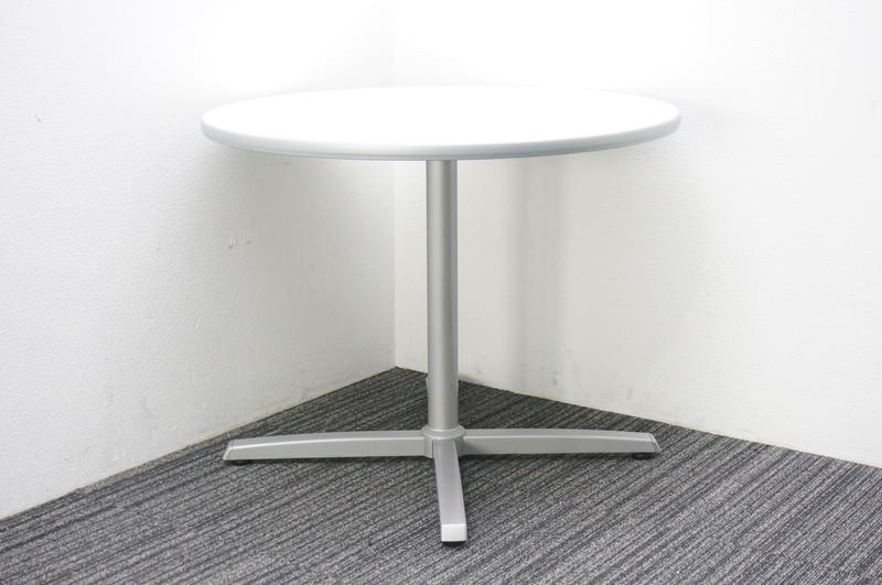 オカムラ 8177 丸テーブル Φ900 H700 ホワイト