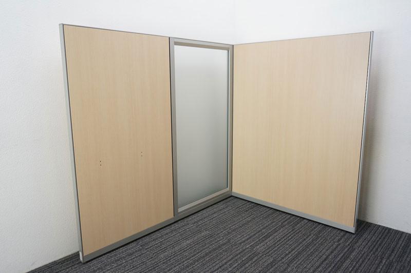 オカムラ ポジット パーティション スチールパネル ライトプレーン + ガラスパネル