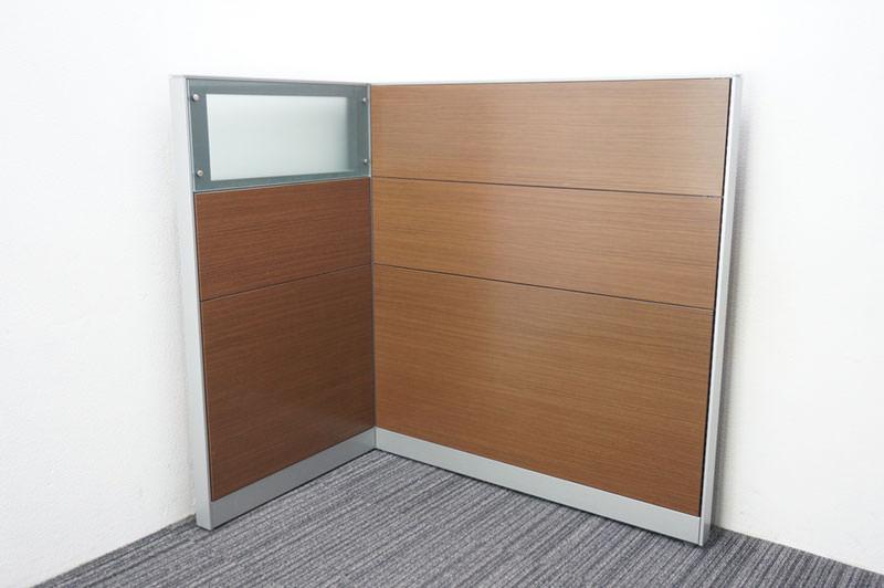 コクヨ インテシス パーティション スチールパネル/ガラスパネル 木目 W750×2 W1200×1 H1310