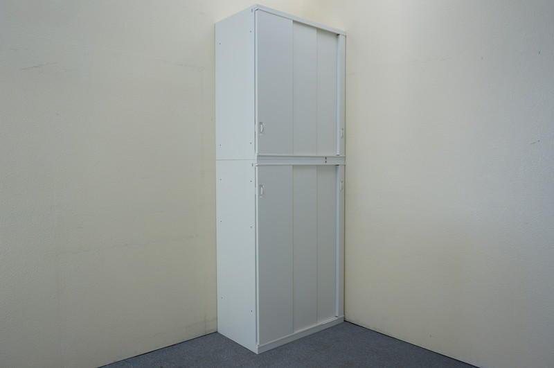 オカムラ SA 3枚引戸2段書庫 W800 H2100