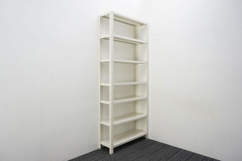 オカムラ 軽量棚 天地7段 ホワイト W900 D300 H2100 【店頭販売のみ】