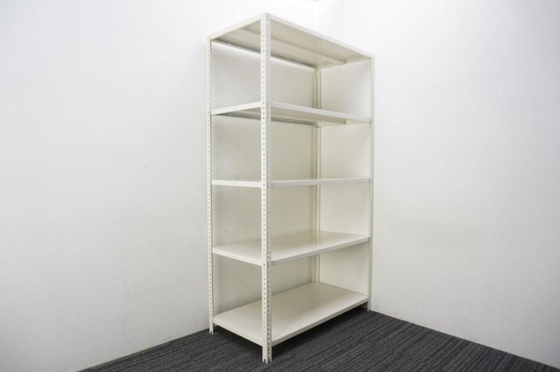 オカムラ 軽量棚 天地5段 ホワイト W1200 D600 H2100 【店頭販売のみ】