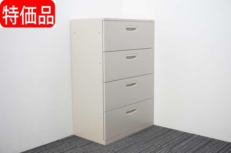 オカムラ SA 4段ラテラル書庫 W800 D450 H1187 Z13色 特価品