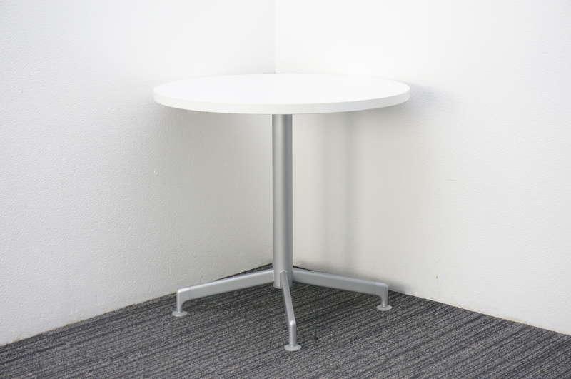 コクヨ イートイン 丸テーブル Φ750 H700 ホワイト