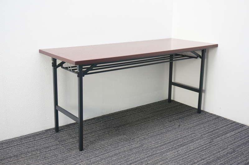 イトーキ BE 折りたたみテーブル 1560 棚付 ローズウッド