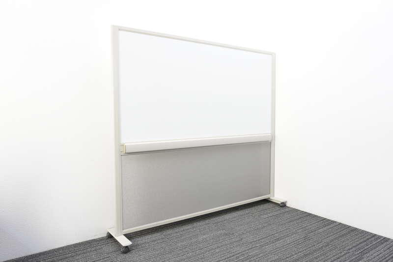 【自社便対応のみ】ウチダ 脚付ホワイトボード 36 ホワイトボード 両面 無地